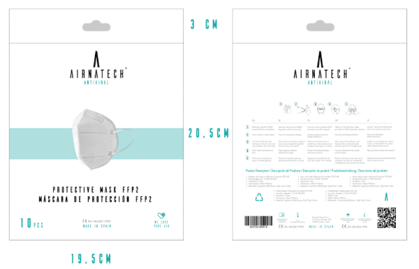 packaging mascarillas ffp2