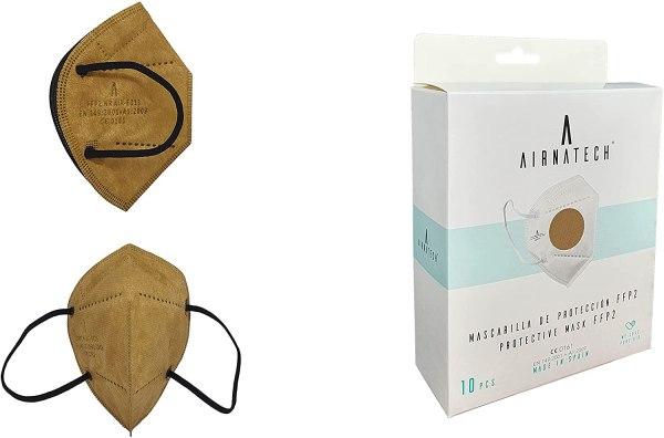 comprar mascarillas marron cuero airnatech distribuidor - hechas y fabricadas en españa - homologadas