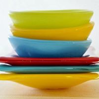 Trinket dishes round and square in a range of colours