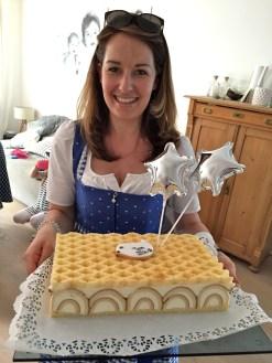 Taufkuchen Zitronenrolle