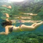 Snorkelling off Gili Meno