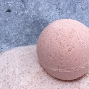 Pink clay and salt bath bombs