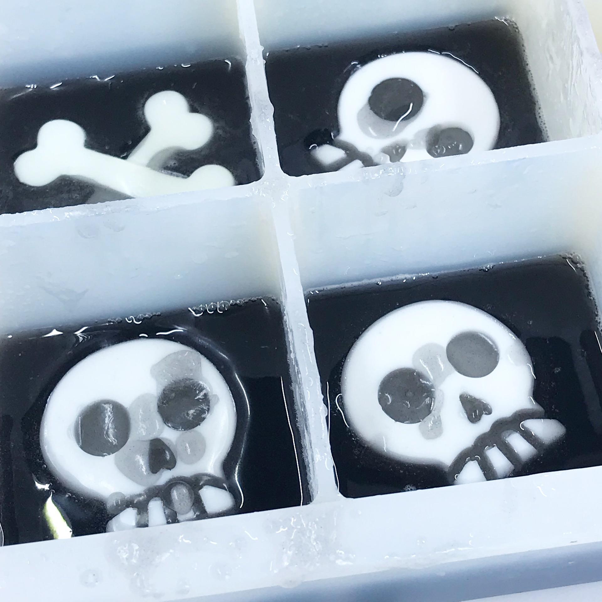 Halloween skull soap