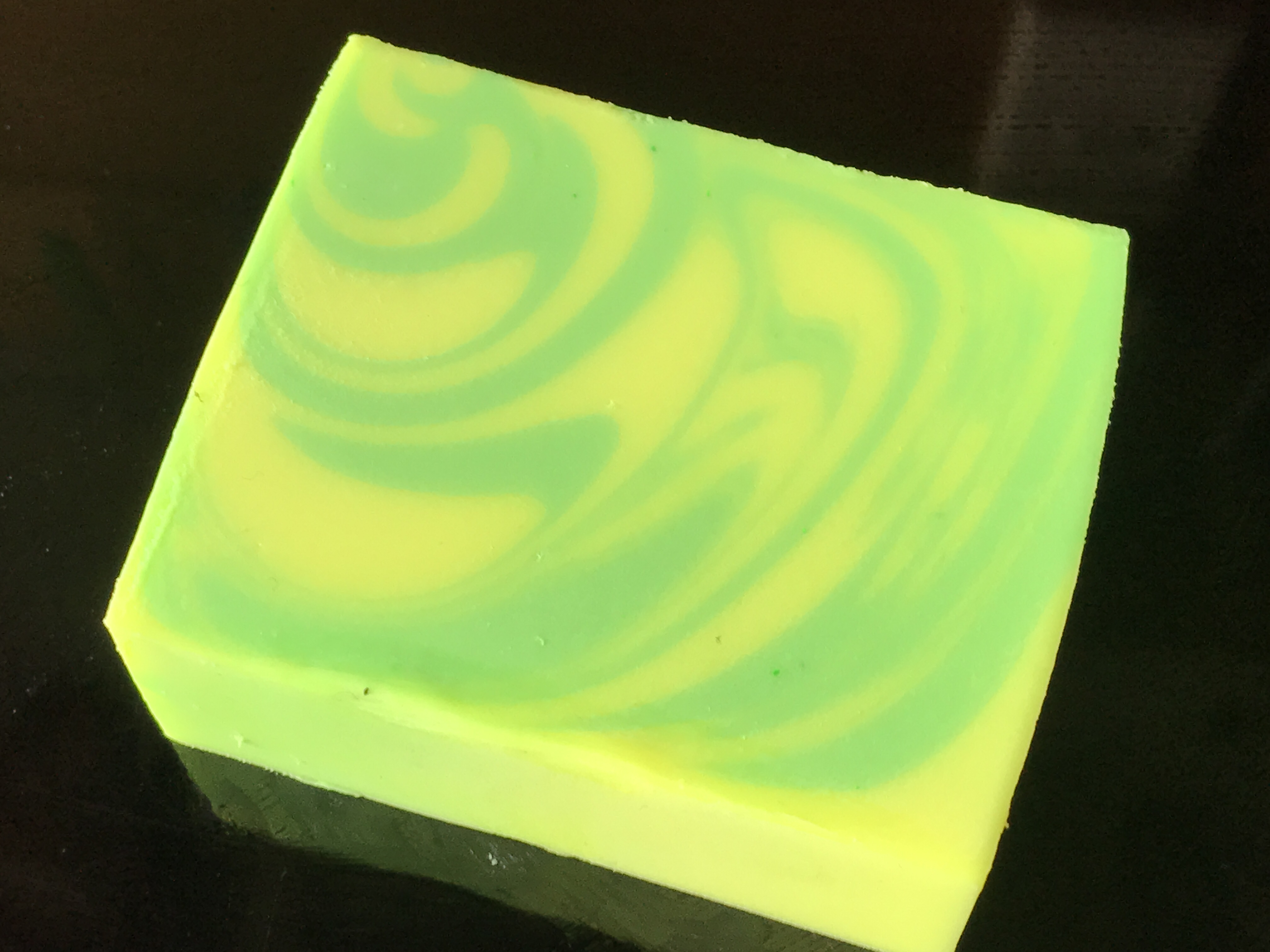 yellow green neon swirl