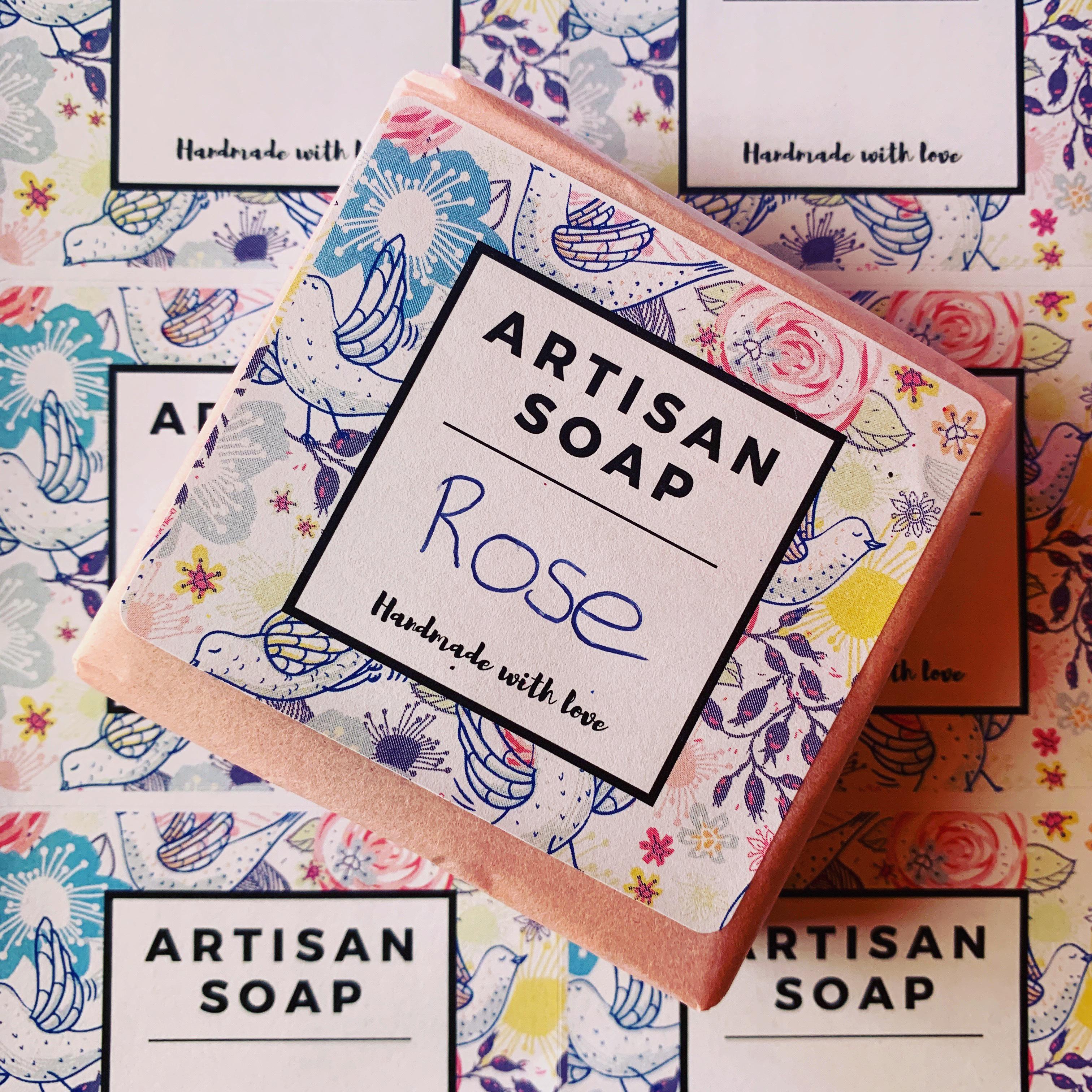 Pastel soap label