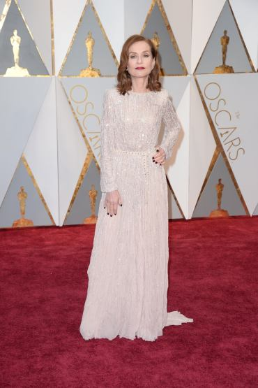 Isabelle Huppert arrives for the 89th Academy Awards (Oscars) ceremony at the Dolby Theater in Los Angeles, CA, USA, February 26, 2017. Photo by Lionel Hahn/ABACAPRESS.COM