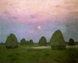 Twilight. Haystacks 1899