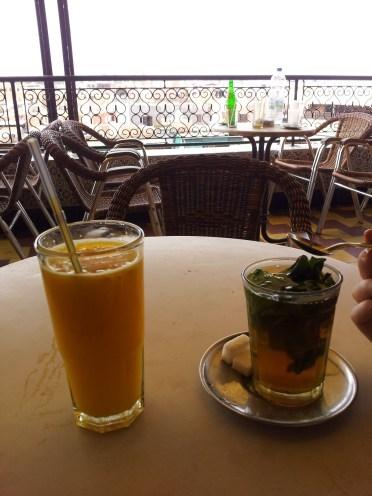 dwa najlepsze napoje w Maroku