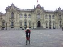 Warta przed pałacem prezydenckim