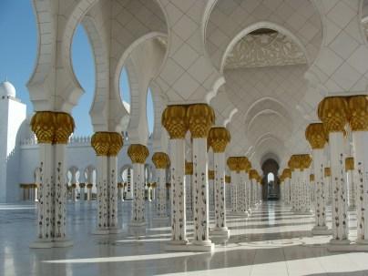 Meczet w Abu Dabi -na bogato