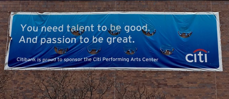 Citibank thinks likes lots of people. But there really isn't something we can measure called talent. (picture D. English)