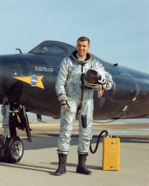 Engle with X-15A-2 12/2/65 NASA DFRC