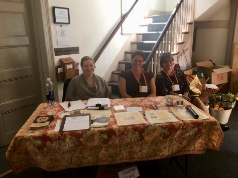 Kimberly, Julie and Beth at the registration table.
