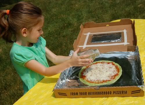 Pizza Box Solar Oven Made Out