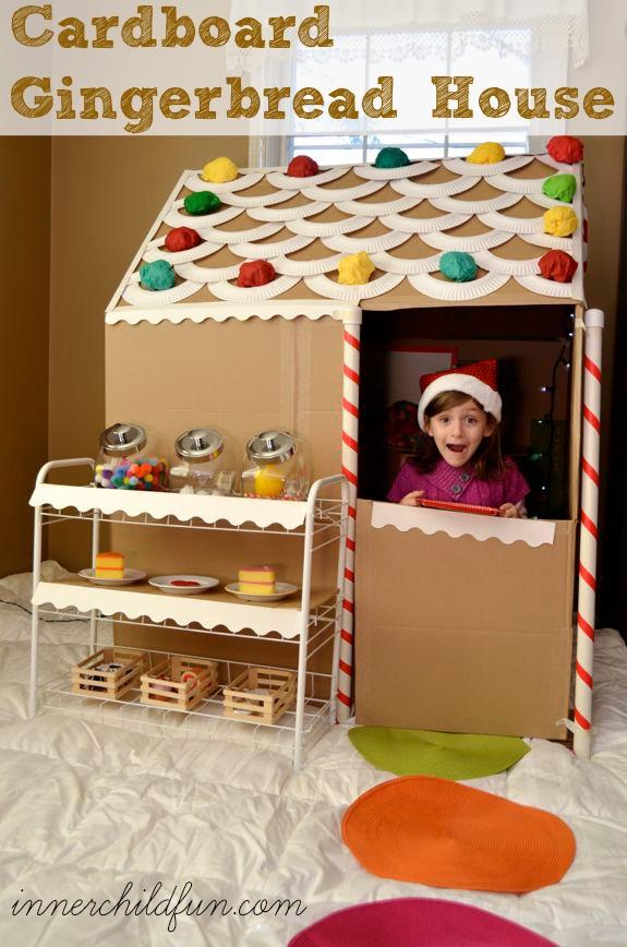 Cardboard Gingerbread House