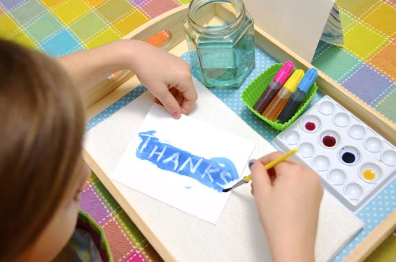 Hand Painted Thank You Cards Great Crafty Fun For A Snowy Or Rainy Day