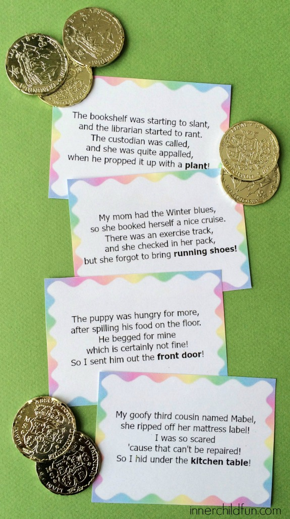Leprechaun Treasure Hunt Clues Inner Child Fun