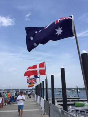 Flags for the World Cup Sailboat Race