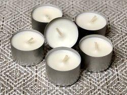 6 fragrance free large tea lights