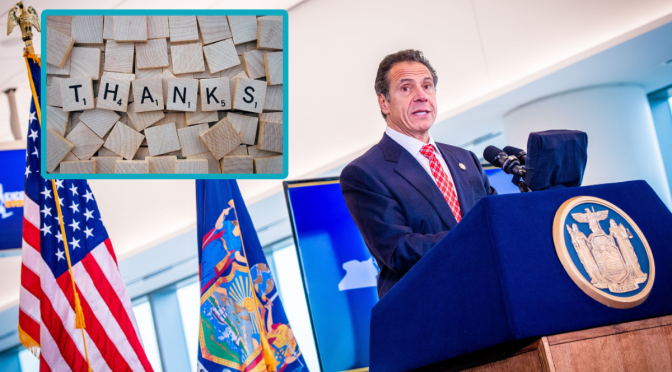 Governor Cuomo Announces That You Can Only Be Thankful for a Maximum 10 Things