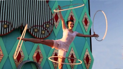 Hoop Act with White Costume