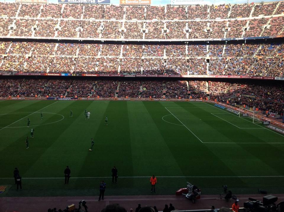 Estadi Camp Nou Barcelona mit vollen Rängen
