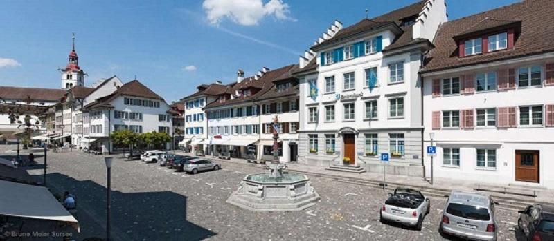Oberstadt Sursee, Schauplatz des Empfangs
