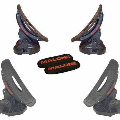 Malone SaddleUp Pro Kayak Carrier with Tie-Downs - Saddle Style - Rear Loading - Jawz Hardware