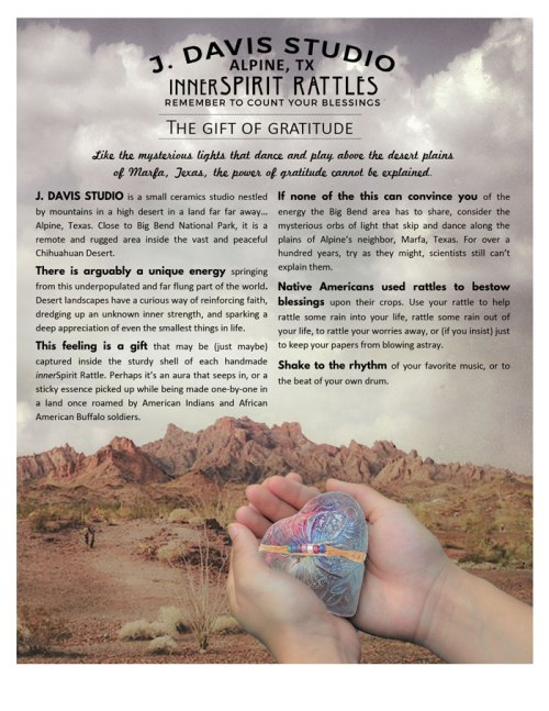 Desert Gratitude innerSpirit Rattles