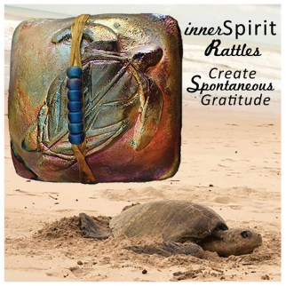 Sea Turtle and raku innerSpirit Rattles