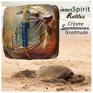 Sea Turtle and raku innerSpirit Rattles