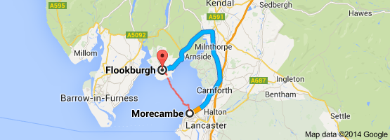 morecambe to flookburgh