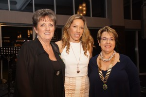 Dr Courtney McDonald with PP Kay Morland & President Marilyn Armstrong