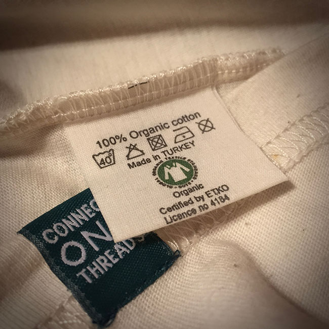 nhãn mác cotton