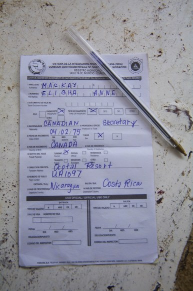 Central American Customs Form