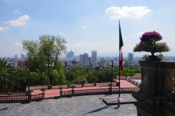Chapultepec Castle is nearly 7700 feet above sea level - 50% higher than the mile high city - Denver. It was cool to get a bird's eye view of the city