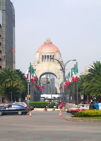 The Monument to the Revolution - a landmark and monument commemorating the Mexican Revolution.