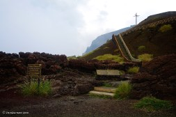 Due to a minor eruption in April of 2012, for the time being hiking up the stairs towards the cross is not permitted.