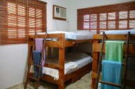 Guest bedroom is equipped with 4 bunks and air conditioning.