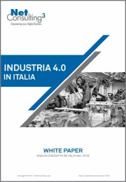 Cover Report Industria 4.0 in Italia