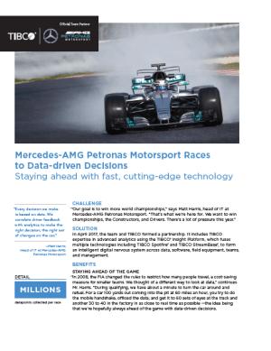 Mercedes-AMG Petronas Motorsport Races to Data-driven Decisions