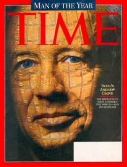 La copertina di Time del 23 dicembre 1997, Andy Grove come uomo dell'anno