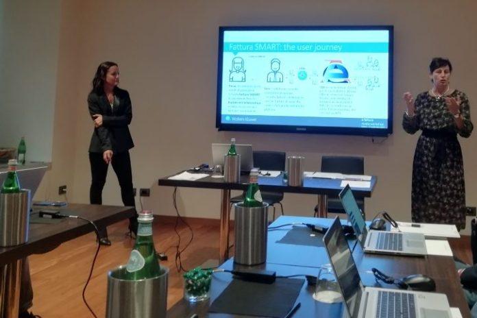 Lara Gaudino, SME Factory Manager e Eleonora Radaelli Accounting Factory Manage,r Wolters Kluwer Tax&Accounting Italia