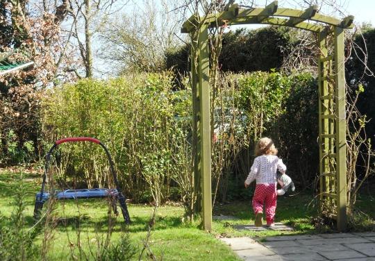 Addison enjoying the garden