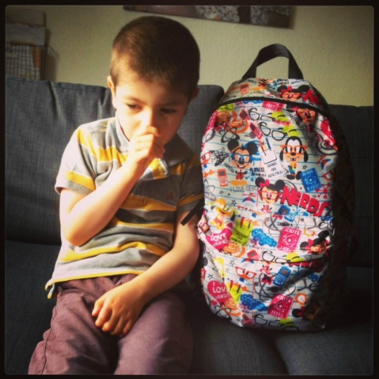 Grayson's last day at preschool