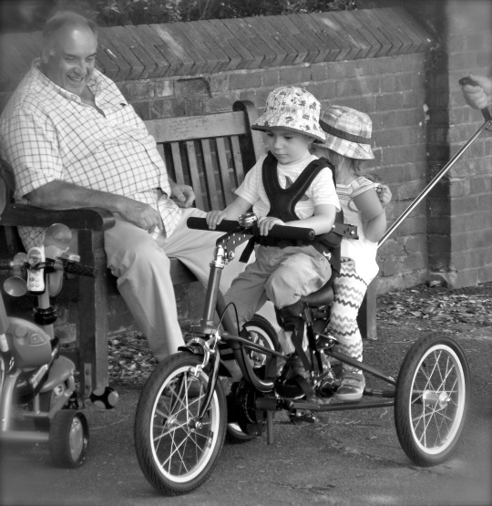 grayson and addison dual trike riding