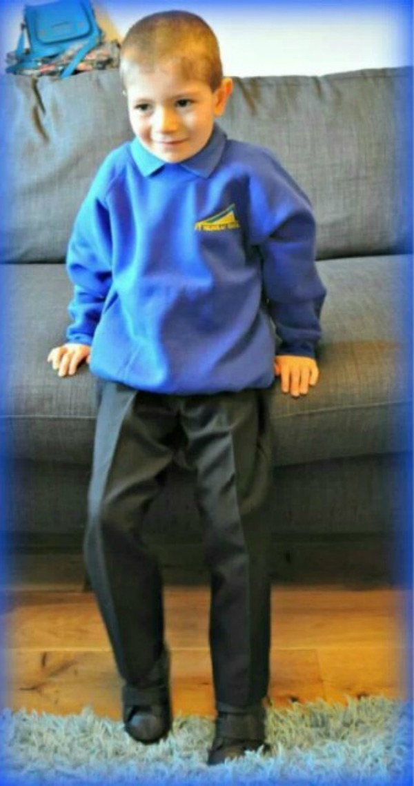 graysons 1st day at school