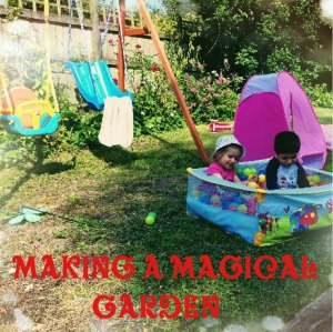 making a magical garden badge