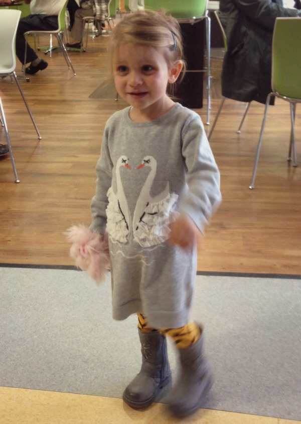 childrens swan jumper
