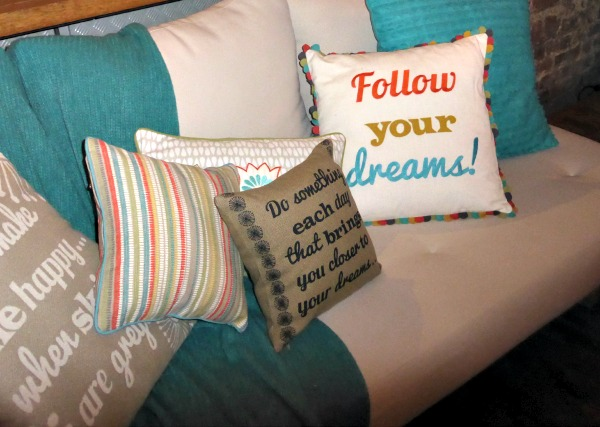 Cushions with quotes